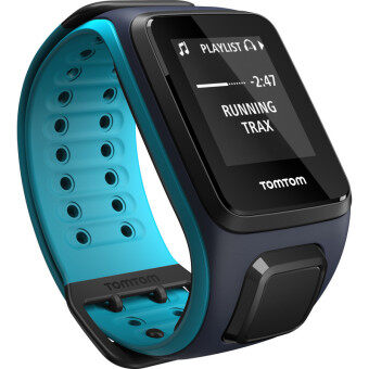 Harga TomTom Spark Cardio + Music Fitness Tracker with Built-In HRM (Black/Blue, Large)