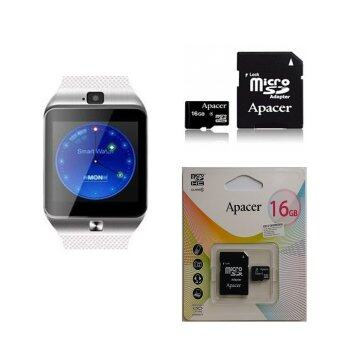 Harga Original Special Edition ZenGear DZ09+ New Generation SmartWatch (White) + 16GB CLASS 10 MEMORY CARD