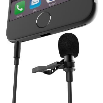 Harga FanRos Universal Lavalier Lapel Clip-on Omnidirectional Mini Portable Recording Condenser Microphone Mic (Updated Version) for iPhone/iPad/iPod/Samsung/HTC Android and Windows Smartphones - Black