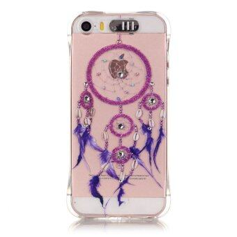 Harga Bling Diamond Soft Back Cover LED Incoming Call Flash Case For Apple iPhone SE 5SE 5 5S (Dream Catcher)
