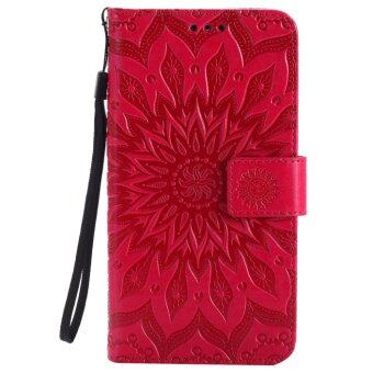 Harga Annoda Soft TPU Inner and PU Leather Flip Full Body Stand Wallet Cover for Motorola Moto G4/Moto G4 Plus,Pack of 1-Red