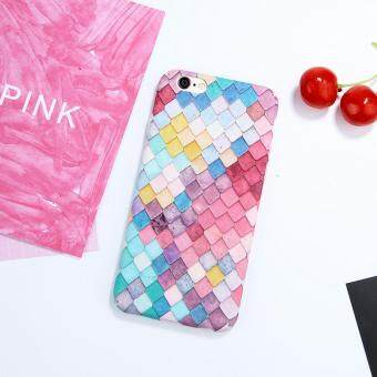 Harga Fashion Colorful 3D Scales Squama Hard Phone Cases For IPhone 7 Korean Girls Mermaid Cover For IPhone 6 Case