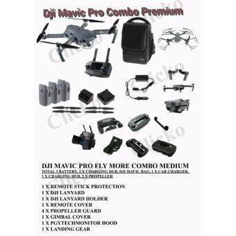 Harga (Official DJI Malaysia Warranty) DJI Mavic Pro Drone Fly More Combo ( TOTAL 3 BATTERIES ) FREE GIFTS