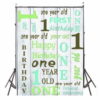 Harga 3x5FT Vinyl Happy Birthday Baby Photography Background Backdrops Studio Props