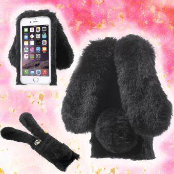 Harga Rabbit Bunny Warm Furry Fur TPU Case for iPhone 6s Plus / 6 Plus - Black