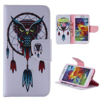 Harga Moonmini Case for Samsung Galaxy S5 i9600 Leather Case Flip Stand Cover - Owl
