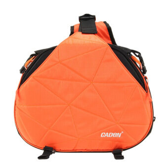 Harga Caden K2 Waterproof Fashion Triangle Camera Shoulder Bag for Canon Nikon Pentax Sony DSLR Orange