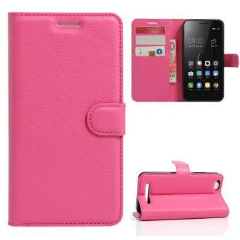 Harga Moonmini Case for Lenovo Vibe C A2020 Case Wallet Stand Leather Case Flip Cover - Hot Pink
