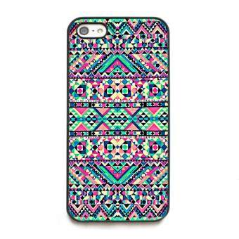 Harga phone case TPU cover Pink Turquoise Girly Aztec Andes Tribal for Apple iPhone 5 / 5s