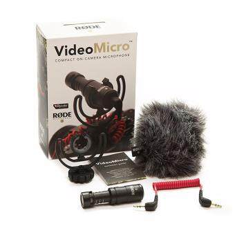 Harga Rode VideoMicro Compact On-Camera Microphone with Rycote Lyre Shock Mount