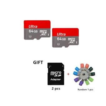 Harga Iceuinc Bundle 2 64GB Ultra Micro SD Class 10 Memory Card Flash Driver 64GB with Adapter +a Gift Card Reader