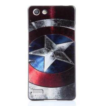 Harga For OPPO A33 TPU 3D Painting Cover Case(Captain America)