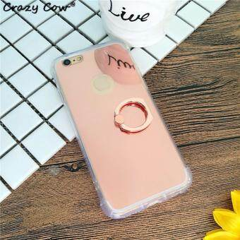 Harga Ring Buckle Mirror Soft TPU Case for Apple iphone 7 (Rose Gold)