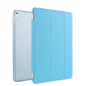 Harga BUILDPHONE PU Leather Smart Flip Pad Cover for Apple iPad Pro 9.7 (Blue)
