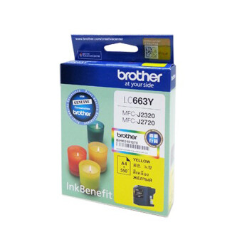 Harga Brother LC663Y Yellow Ink Cartridge