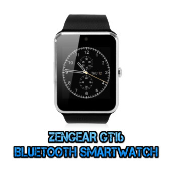 Harga (2016 New Version - Original) ZenGear iWatch GT16 Digital Bluetooth Smart Watch (Silver)