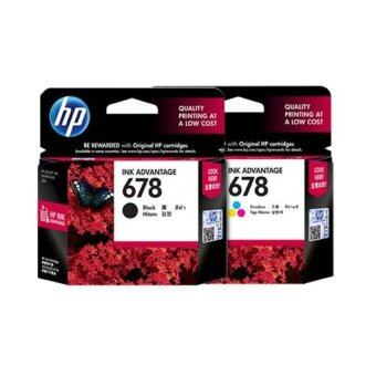 Harga HP 678 Black + HP 678 Color Ink Cartridge Combo Set