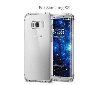 Harga Galaxy S8 Case, Gogerstar Acrylic Clear Air Cushion Shock Absorbing Hybrid Drop Protection Bumper Case for Samsung Galaxy S8
