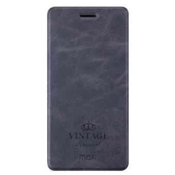 Harga MOFI PU Leather Soft TPU Cover for Xiaomi Max (Dark Grey)