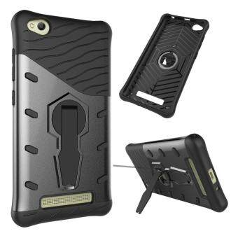 Harga Heavy Duty Shockproof Dual Layer Hybrid Armor Defender Full Body Protective Cover with 360 Degree Rotating Kickstand Case for Xiaomi Redmi 4A