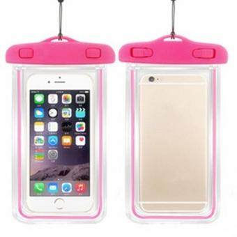 Harga LALANG Waterproof Mobile Phone Bag Dry Case Cover Luminous Pouch for IPHONE 4 4S 5 5S 6 6S PLUS (Hotpink)