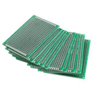 Harga 10pcs 5x7cm Double-Side Prototype PCB Universal Printed Circuit Board