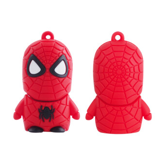 Harga High Speed Toys Cartoon USB Flash Drives USB 2.0 Pendrives 8GB Memory Stick Card Creative Gift (the hero spider man) - intl