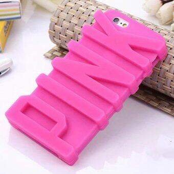 Harga 3D Cute letter pink phone case For Apple iPhone 7
