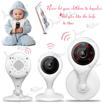 Harga Wireless Security IP Camera WiFi Baby Pet Video Monitors 720p HD 100 MP Remote(White)
