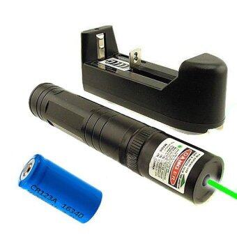 Harga 532nm Green Laser Pointer Light Pen Lazer Beam High Power 5mw 16340 Charger-