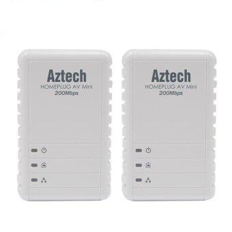 Harga Aztech HL113E Homeplug AV 200Mbps Ethernet Adapter - Twin Pack