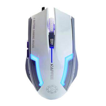 Harga BIOSYS Naffee[NP19] USB Optical Gaming Mouse 6 Button With 4 LED DPI Light 3200 DPI