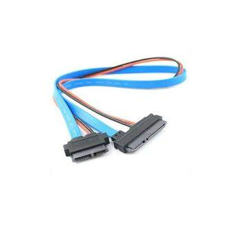 Harga Akiba Slimline 13p (7+6) Sata Female to 22p (7+15) Female Data Power Cable