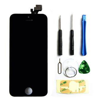 Harga LCD Display Touch Screen Digitizer Assembly with Frame Replacement Cell Phone Parts for iPhone 5(Black)