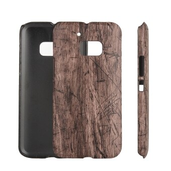 Harga Moonmini PU Leather Snap-On Back Case Cover For HTC One M10 / HTC 10 (Wooden Grain)