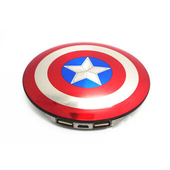 Harga 6800mAh Captain America Shield Powerbank Multicolor