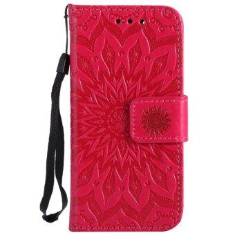 Harga Annoda Soft TPU Inner and PU Leather Flip Full Body Stand Wallet Cover for iPod Touch 5/6 Generation,Pack of 1-Red