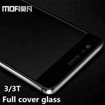 Harga oneplus 3t glass full cover tempered film glass oneplus 3t screen protector white black glass MOFi one plus 3t glass film oneplus3 t