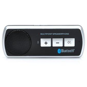 Harga Rechargeable Bluetooth Speaker Car Kit Black