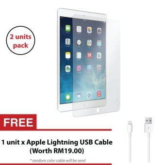 Harga 2 units of Apple iPad Pro 9.7 Tempered Glass Screen Protector + FREE Apple Lightning USB Cable