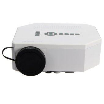 Harga 1200lumens HD 1080P Home Cinema 3D HDMI USB Video Game LED LCD Mini Projector (White) - Intl