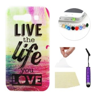 Harga Alcatel One Touch Pop C9 Moonmini Soft TPU Phone Back Case Cover (Live the Life You Love)