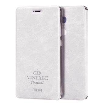 Harga MOFI VINTAGE Xiaomi Redmi Note 4 Crazy Horse Texture Horizontal Flip Leather Case with Card Slot & Holder & Sleep / Wake-up Function(White)