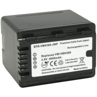Harga High Capacity Replacement Battery For Panasonic VW-VBK360 Compatible for Panasonic HDC-SD40, HDC-SD40K, HDC-SD60, HDC-SD60K, HDC-SD60S, HDC-SD80, HDC-SD80K, HDC-SD80S, HDC-SD80R, HDC-SD90, HDC-SD90K