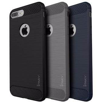 iPaky New Simple Case For Apple iPhone 7 Carbon Fiber Texture Brushed Soft Silicone TPU Back