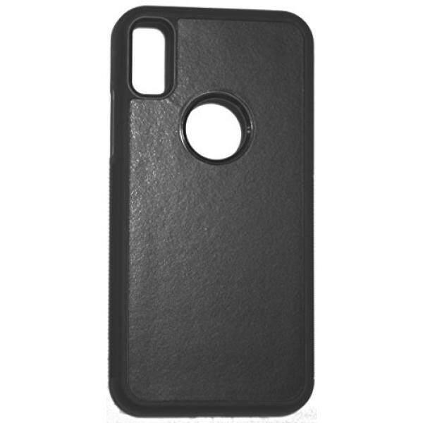 IPhone X Case, Anti-gravitasi Case Nano Teknologi Hisap Buah + TPU Case Menempel Pada Cermin, kaca, Logam, Jendela Lemari Dapur, Genteng, Plastik, tidak Selip untuk Digunakan Di Mobil (Hitam)-Internasional