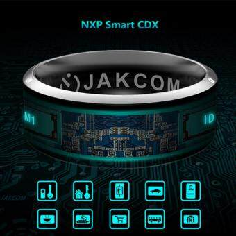 Harga JAKCOM R3 NFC Technology Magic Smart Ring Black for Android IOSWindows Phone 9# Size