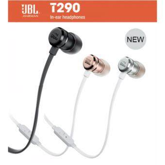 JBL T290 Pure Bass Sound Lightweight In-Ear Wired Stereo Headphones (BLACK)