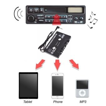 Harga JinGle 3.5mm AUX Car Audio Cassette Tape Adapter Transmitters forMP3 IPod CD MD iPhone