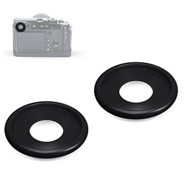 JJC Silikon Lembut Lensa Mata/Eyecup untuk Fuji Fujifilm FinePix X-PRO2 Kamera, versi Lebih Besar untuk Orang-orang Yang Memakai Kacamata-Internasional